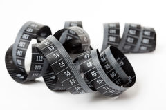 Black tape measuring. Royalty Free Stock Photos