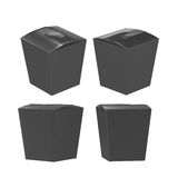 Black taper square butterfly buckle biscuit box with clipping pa Stock Images
