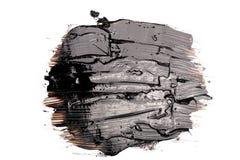 Black tar blot. Liquid black tar blot isolated on white stock photo