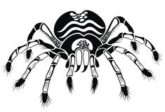 Black tarantula. Tattoo spider Royalty Free Stock Photography