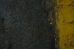 Black Tarmac And Yellow Road Marking Royalty Free Stock Photos