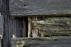 Black tarred old wood Royalty Free Stock Photography