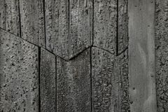 Black tarred old wood Royalty Free Stock Photos