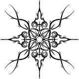 Black tattoo pattern. On a white background Stock Images