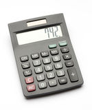 Black tax calculator isolated on white. Royalty Free Stock Image
