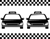 Black taxi cars Stock Photo