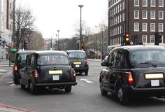 Black taxis in London Royalty Free Stock Photography