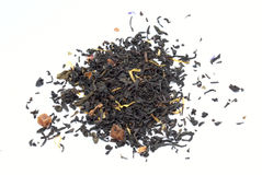 Black tea. On the white background Royalty Free Stock Photography