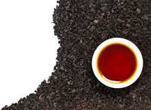 Black tea. With a tea cup Stock Photo