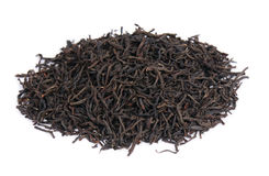 Black tea. Isolated over white stock images
