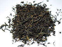Black tea. With a white background stock photography