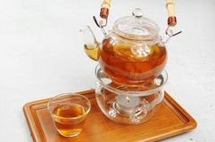 Black Tea. A glass of black tea Royalty Free Stock Image