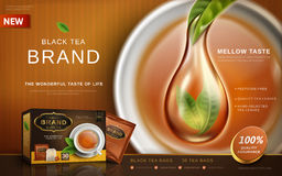 Black tea ad Royalty Free Stock Photography