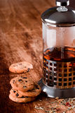 Black Tea And Fresh Baked Cookies Royalty Free Stock Photography