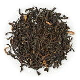 Black tea Assam Mokalbari. Blend raw isolated on pure white royalty free stock photo