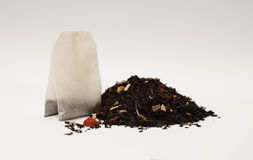 Black tea bag Royalty Free Stock Photos