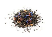 Black tea blend with dried fruits and cornflower Stock Photo