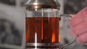 Black Tea Brewing stock video