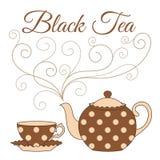Black tea card Stock Photos