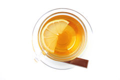Black tea and chocolate bar Stock Images