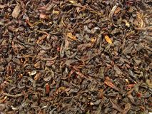 Black tea closeup - Earl Grey. Macro of dry black tea leaves Stock Photo