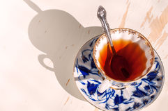 Black tea. A Cup of freshly brewed black tea Royalty Free Stock Image