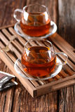Black tea in cup Stock Photography