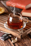 Black tea in cup Royalty Free Stock Photography
