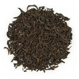 Black tea earl grey bergamot. Raw black tea earl grey bergamot blend isolated on pure white royalty free stock photos