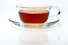 Black Tea in a glass cup Stock Photography