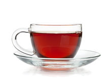 Black tea in glass cup Stock Photography