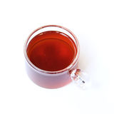 Black tea in glass cup Stock Image