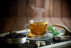 Black Tea Is A Hot Drink Royalty Free Stock Photos