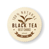 Black Tea label Royalty Free Stock Images