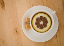 Black tea with lemon Stock Photography