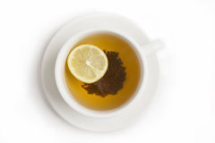 Black tea with lemon Stock Photo