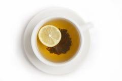 Black tea with lemon Stock Photo