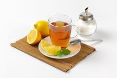 Black tea with lemon Royalty Free Stock Photo