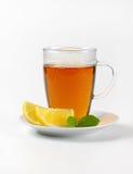 Black tea with lemon Royalty Free Stock Photography