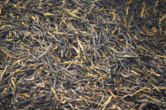 Black tea loose dried tea leaves Stock Photo