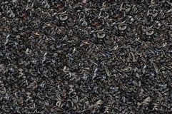Black tea loose dried tea leaves, marco Royalty Free Stock Images