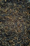 Black tea loose dried tea leaves, texture Stock Photos