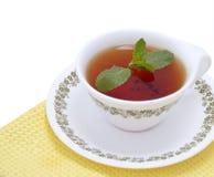 Black Tea with mint Stock Photo