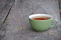 Black tea in morning Royalty Free Stock Photo