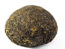Black Tea Puerh (Puer). Black Tea Puerh pressed in the form of a bowl Royalty Free Stock Image