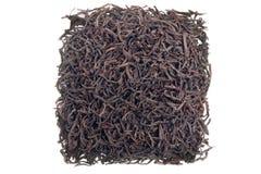Black tea in square shape Stock Photography