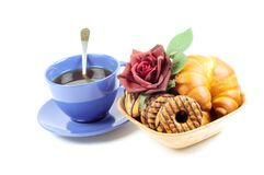 Black tea and sweets Stock Image