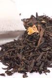 Black tea and tea bag Royalty Free Stock Photography
