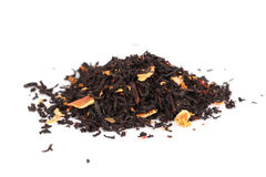Black Tea on white background Stock Photography