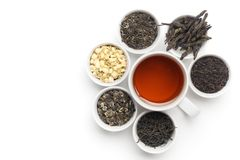 Black Tea in White Cup Royalty Free Stock Photos